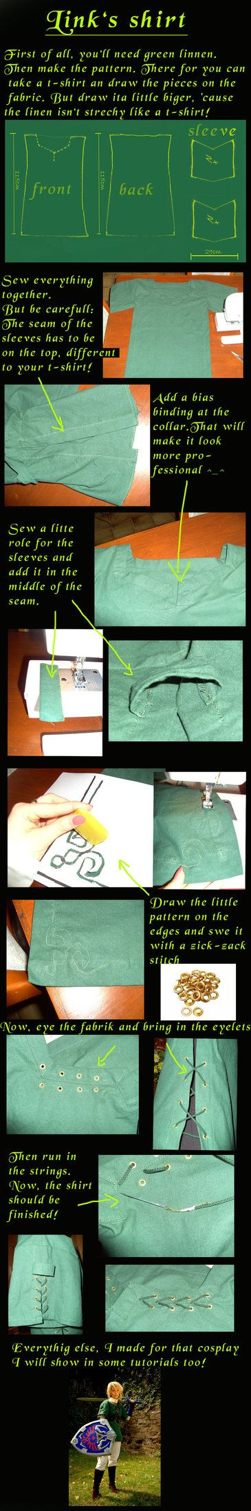Tutorial, How to: Link's shirt by *Eressea-sama on deviantART