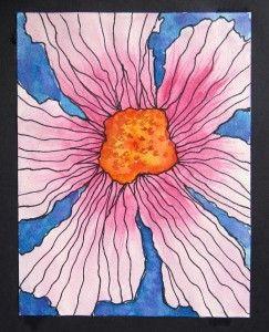 Georgia OKeefe Flower 1 Art History LessonsArt LessonsThird Grade ArtSpring