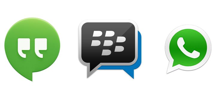 Hangouts, BBM, WhatsApp - Drei Messenger im Test  #Android #BBM #Blackberry #Drei #Hangouts #Test #WhatsApp #Review #Vergleich