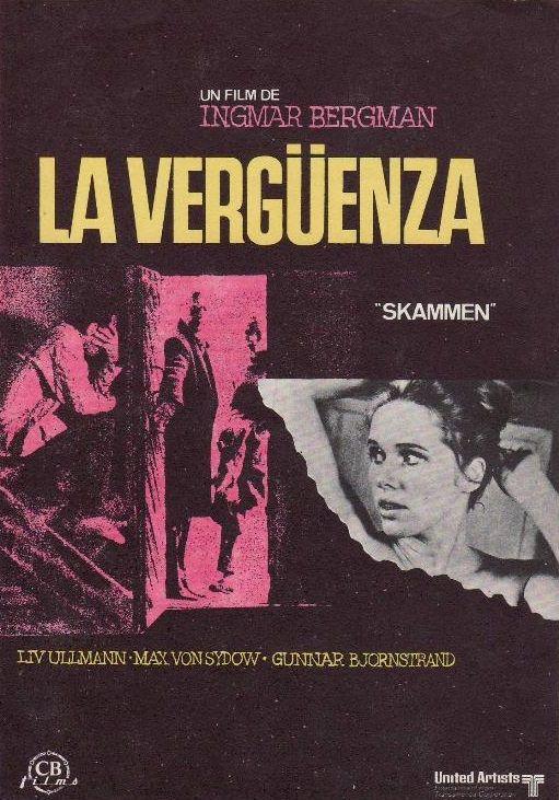 La vergüenza (1968) Suecia. Dir: Ingmar Bergman. Drama. Bélico. Romance. Familia - DVD CINE 1475