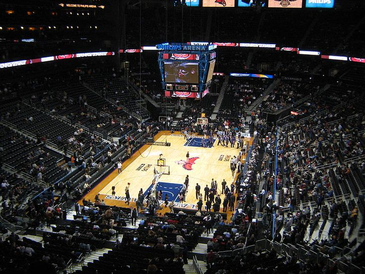 Largest NBA Arenas: Philips Arena - Atlanta Hawks