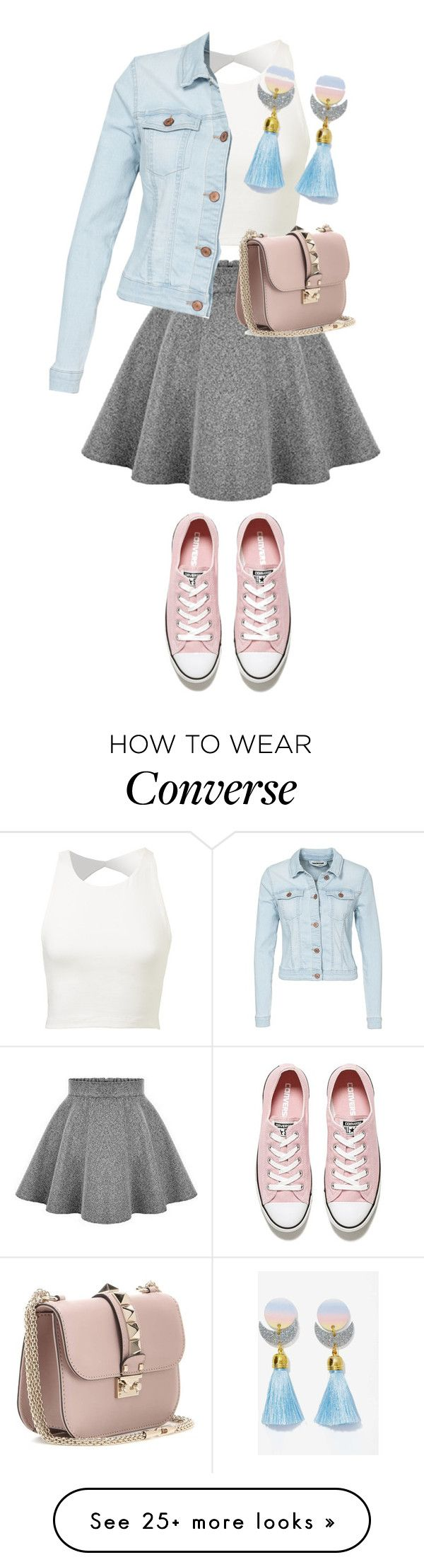"""Без названия #570"" by berlinmoskva on Polyvore featuring Converse, Valentino, Noisy May, women's clothing, women's fashion, women, female, woman, misses and juniors"
