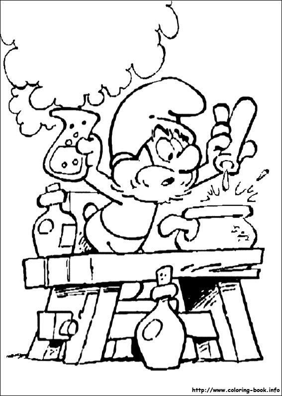 The Smurfs coloring picture