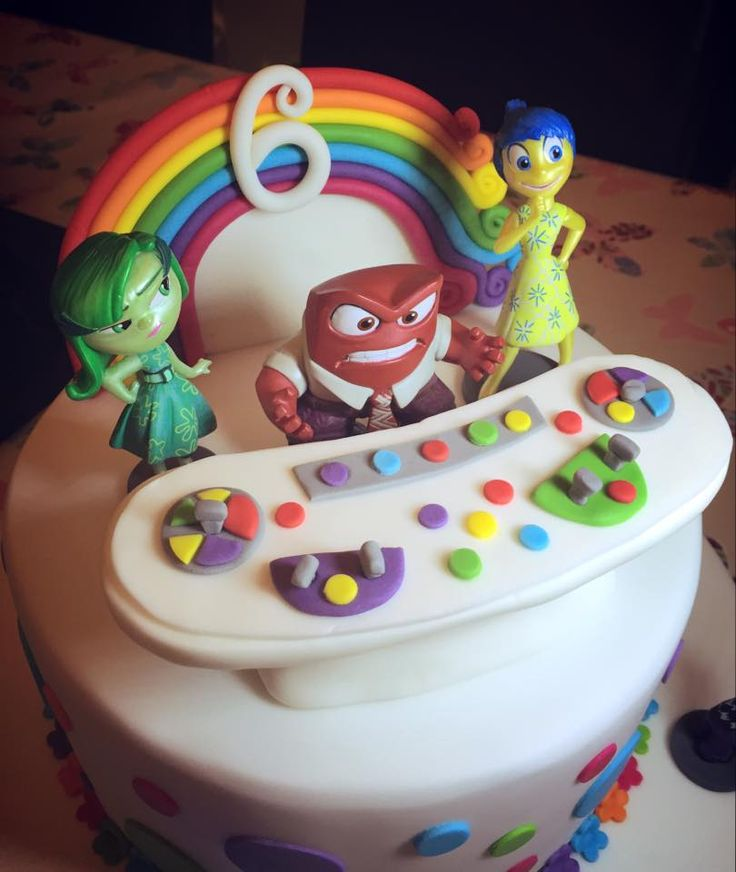 Inside Out 6th Birthday Cake