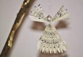 Resultado de imagen de Decoraciones navideñas con partituras