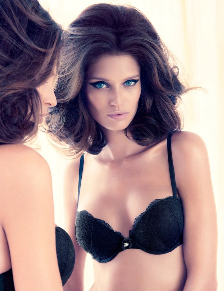 Her makeup... It's amazing!    BIANCA BALTI SEDUCES IN H VALENTINE'S DAY LINGERIE COLLECTION