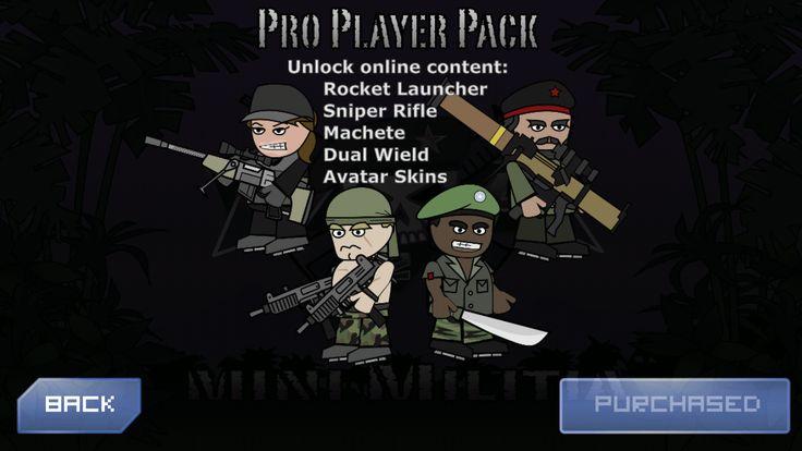 mini militia pro pack player features Mini, Android apk