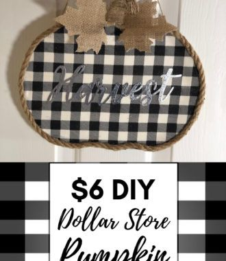DIY Dollar Store Pumpkin Fall Wreath