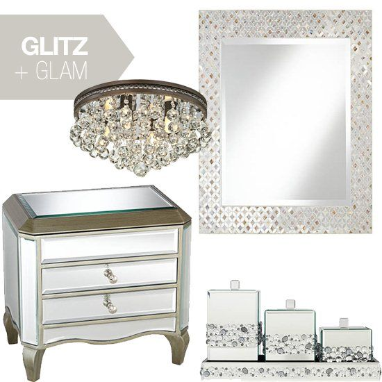 Glitz And Glam Home Decor Trend Blogged On Style Illuminated Pinterest