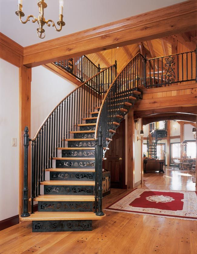 Victorian One Custom Curved Stair Featuring Custom Oak