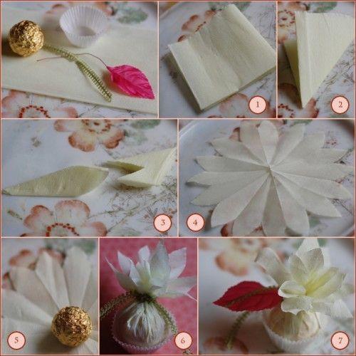 Lotus Leaf Napkin Folding :  , peçete katlama Pinterestte  Yaratıcı, Lotus ve Origami