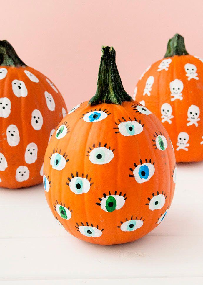 Calabazas Halloween Huellas Calabazas De Halloween Cosas De Halloween Decoración Halloween