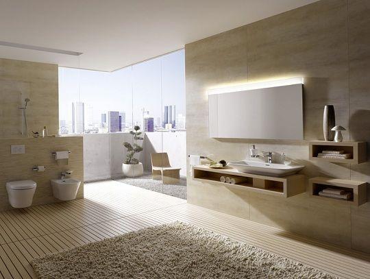 modern bathroom design minimalist style TOTO cream color