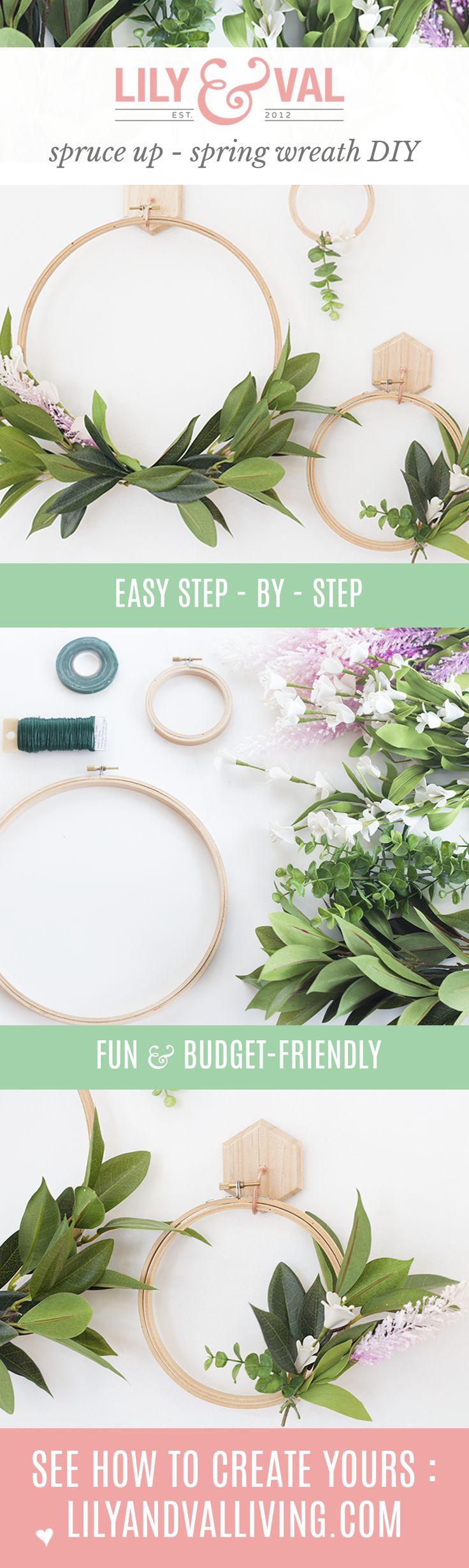 DIY Spring Faux Wreath | modern spring decor  | budget-friendly decor