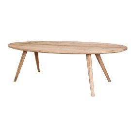 Prachtig afgewerkte ovale eiken tafel met mooi slanke schuingeplaatste poten uit de collectie van De Mooiste Meubelen. ;