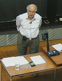 Sir Michael Atiyah  : Points and Flags   http://www.math.sunysb.edu/Videos/Colloquium/video.php?f=20111110-Atiyah