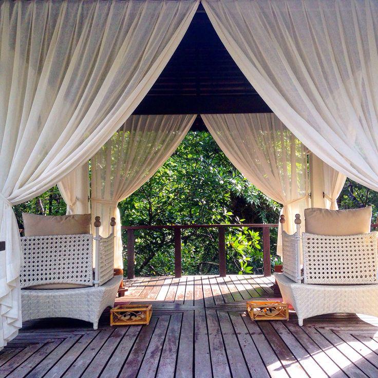 Waiting for a massage at Gaya Resort, Borneo