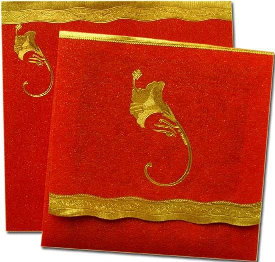 Indian wedding cards can be simple and articulate cards in for Wedding invitation cards gowliguda