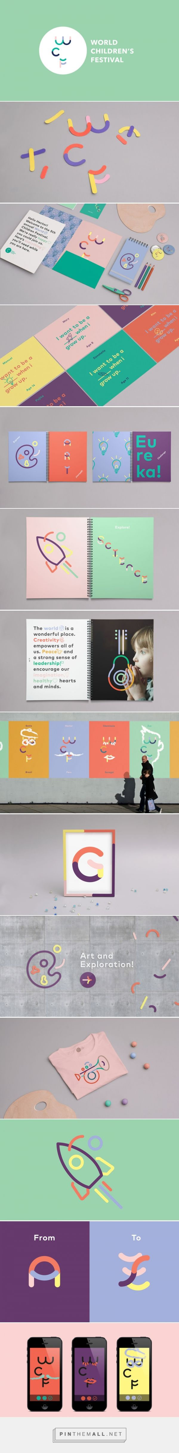 World Children's Festival Identity Concept | Trendland... - a grouped images picture - Pin Them All