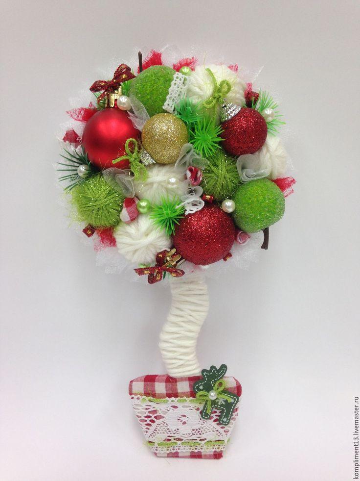 Купить Магнит новогодний - комбинированный, магнит на холодильник, магнит в подарок, новогодний подарок, новогодний сувенир
