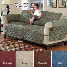 Deluxe Quilted Microfiber Furniture Protector @ Fresh Finds.  Burgandy