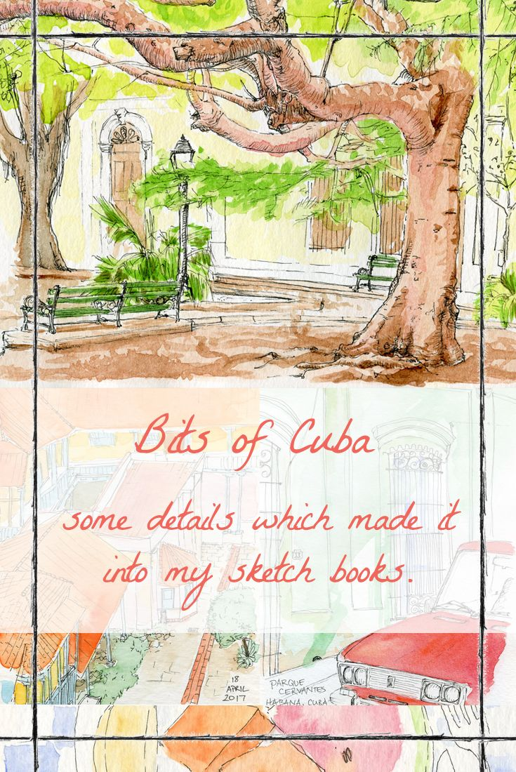 Illustrations of my time in Cuba. I always wish I stopped more often to fill my sketchbooks as I travel, but my wandering feet are hard to pause.