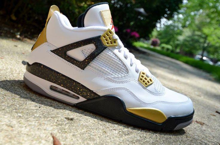 ... New Orleans Saints Tennis Shoes air jordan iv gold digger customs dmc  kicks 2 Air Jordan IV Gold Digger Customs by ... 89cb791a3dc5