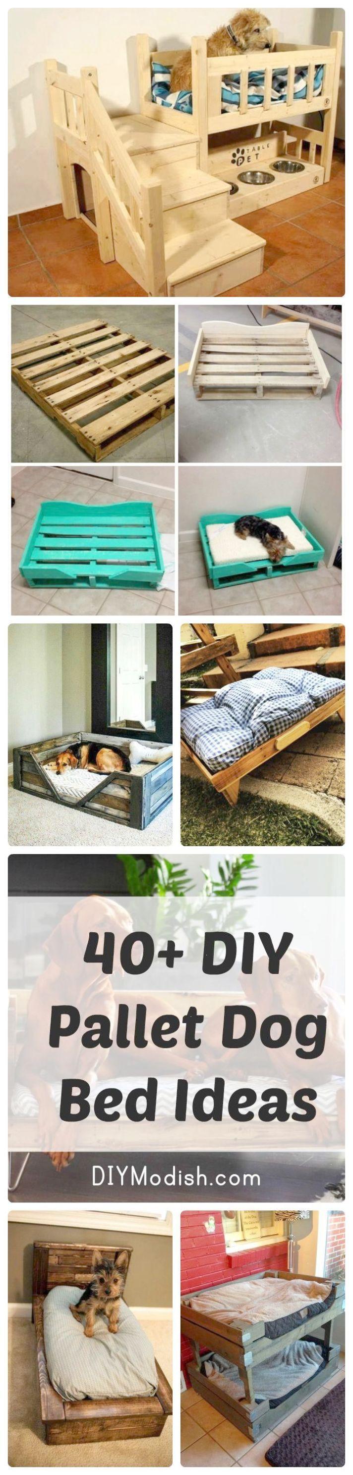 40 Diy Pallet Dog Bed Ideas  Old Door Panels