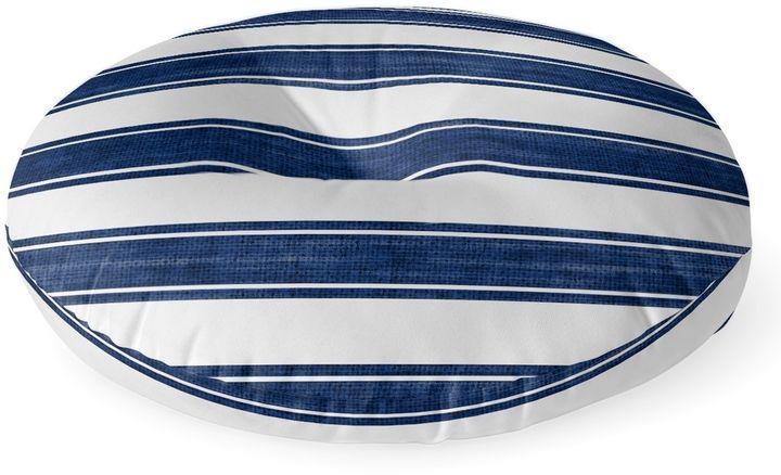 Kavka Designs Nautical Stripe Round Floor Pillow