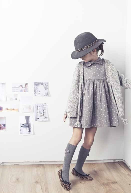 Beautiful grey vintage dress - perfect for a girl to wear at school