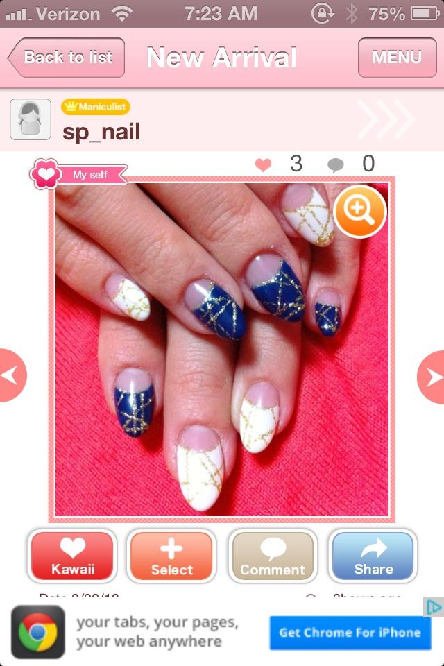 irregular deep french gel nail  :)