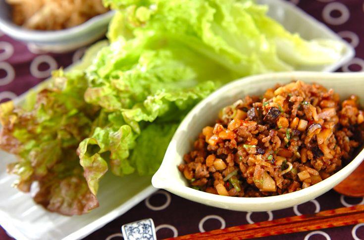 ひき肉納豆のレタス包みのレシピ・作り方 - 簡単プロの料理レシピ | E・レシピ