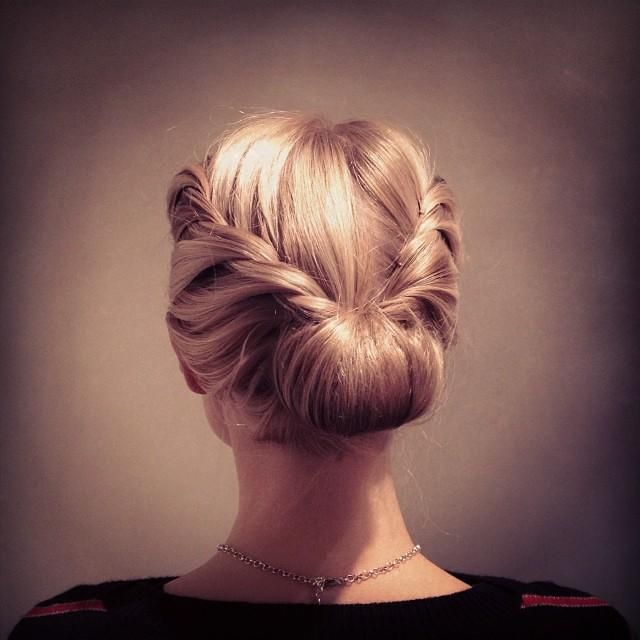 Blonde Updo Twists