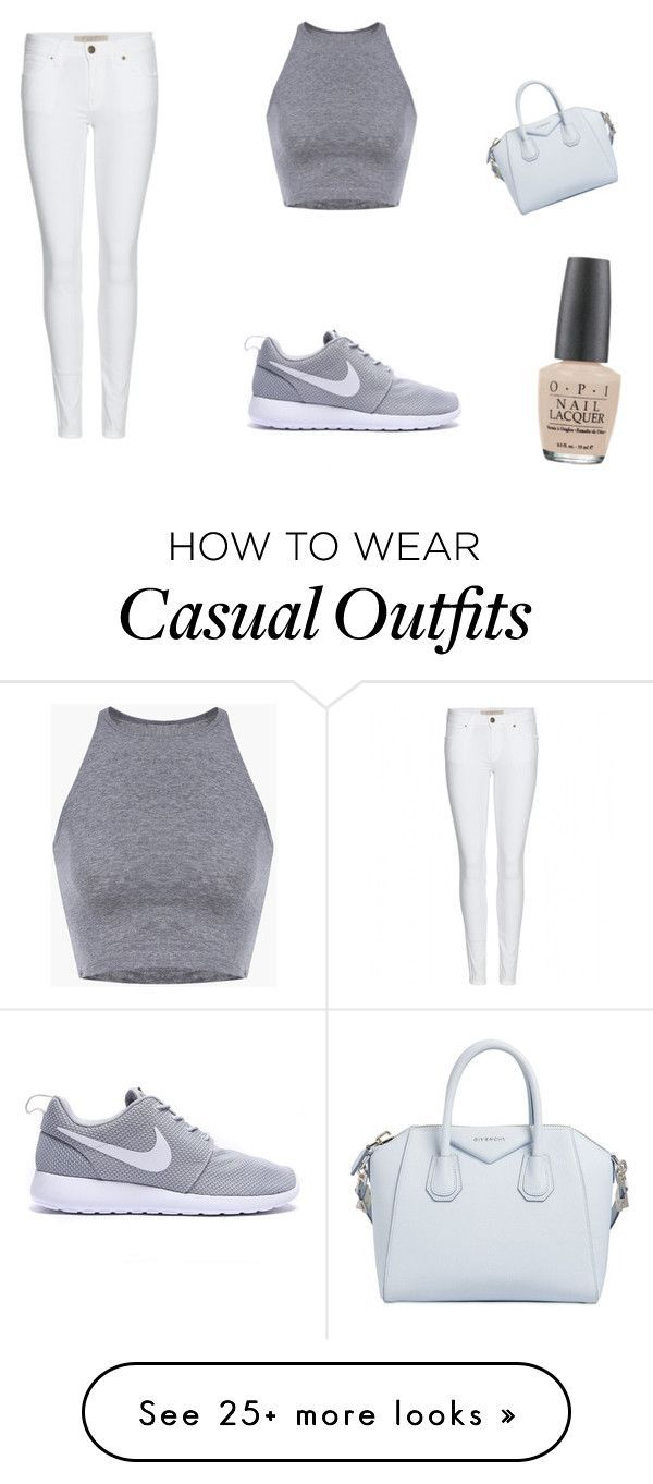Casual by ella-alice78 on Polyvore featuring Burberry, Givenchy and OPI