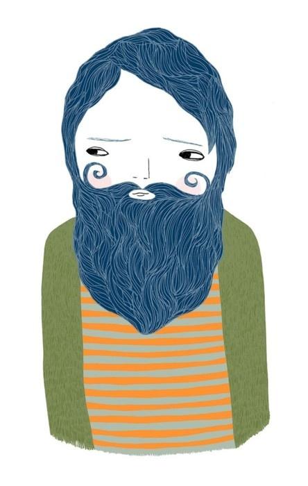 illustrationKitty Genius, Bluebeard Inspiration, Bluebeard Bartholomew, Handmade Gift, Blog, Prints, Blue Beards, Design, Art Illustration