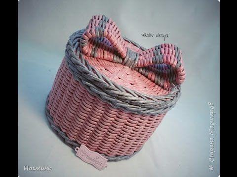 Плетение из газетных трубочек.  Бантик. Мастер-класс.