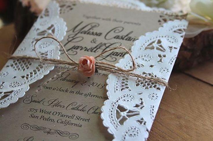 rustic wedding invitation 9