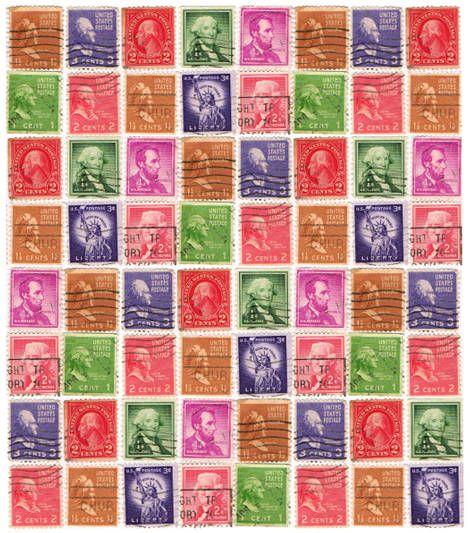 Postzegels om de brieven van de kinderen te versieren.
