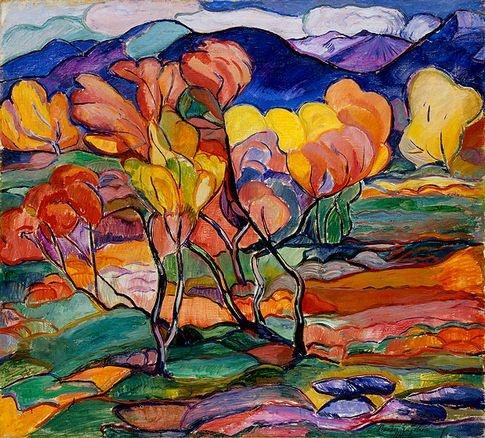 Sigrid Hjerten (1885-1948) - Höstvegetation
