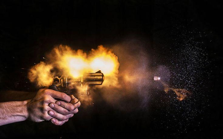 Ballistics photographer captures images of the microsecond a bullet leaves a gun - Telegraph