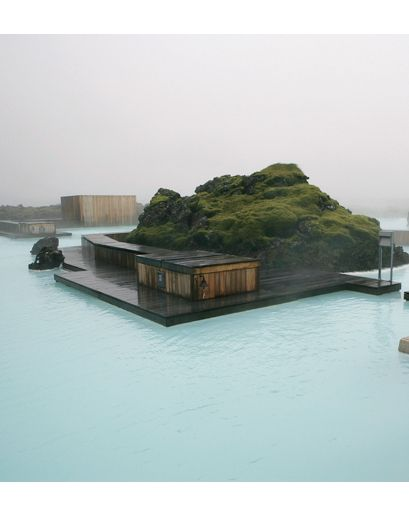 Blue Lagoon/101 hotel. Reykjavik, Iceland.          not at all a fan of cool temp places, but after seeing this pic, I may have to add Iceland to my list of places to go (and specifically this hotel!)