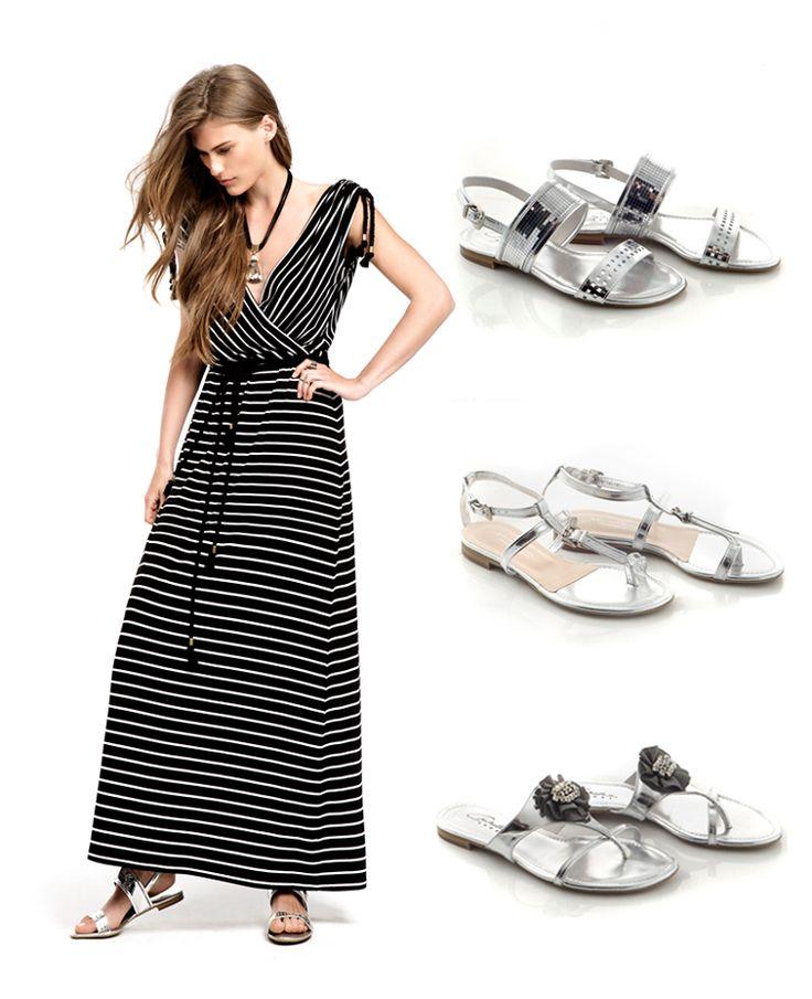#Silverflatsandals!!  Unique #Handmadeshoes  from #Chaniotakis company!!  http://www.chaniotakis.gr/gr/gynaikeia-papoutsia4/sagionares.asp