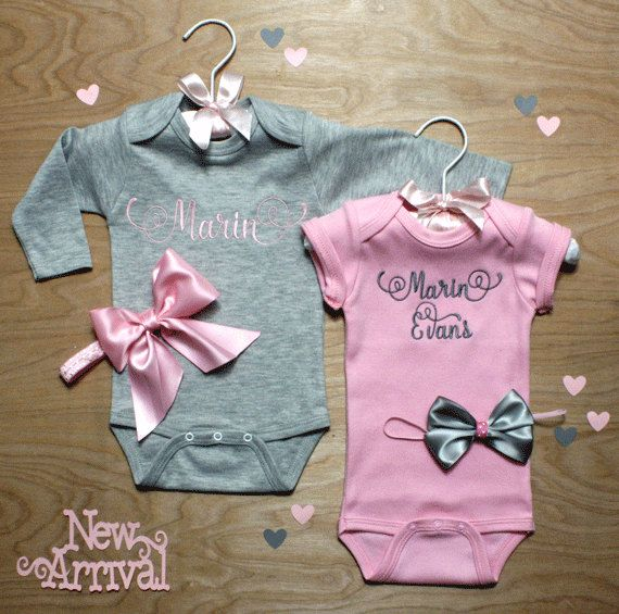 37 best baby bling images on pinterest baby bling baby rompers personalized baby girl coming home outfits 2 gray and pink onepiece and bows baby shower gift negle Image collections