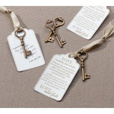 ... wedding #favor wedding favours Pinterest Wedding, Keys and