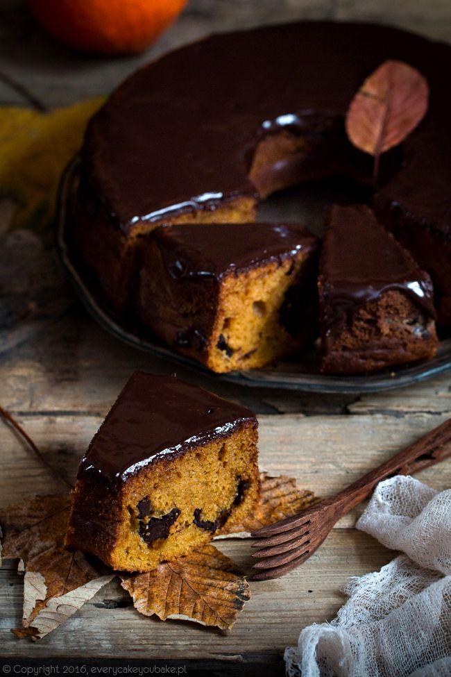 ciasto dyniowe z czekoladą, pumpkin and chocolate cake #dynia #czekolada #pumpkin #chocolate #jesień #fall