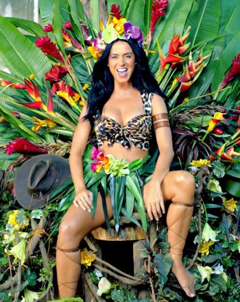 """Katy Perry """"Roar"""" Music Video: Sexy, Cleavage-Baring Jungle Outfit - UsMagazine.com"""