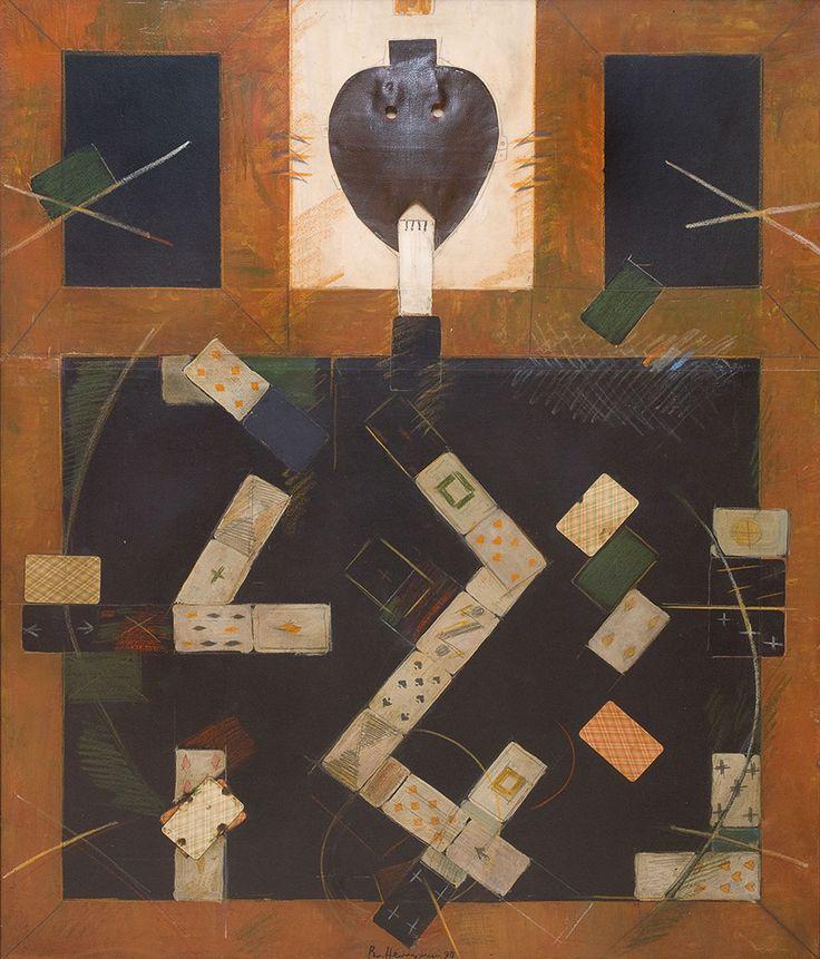 Владимир Немухин - Джокер. 1990 г. Холст, масло. 120х100