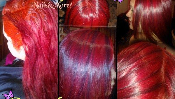 Retoque de raíz,Corrección de color, Mechas Violeta http://elsentidodelabelleza.com