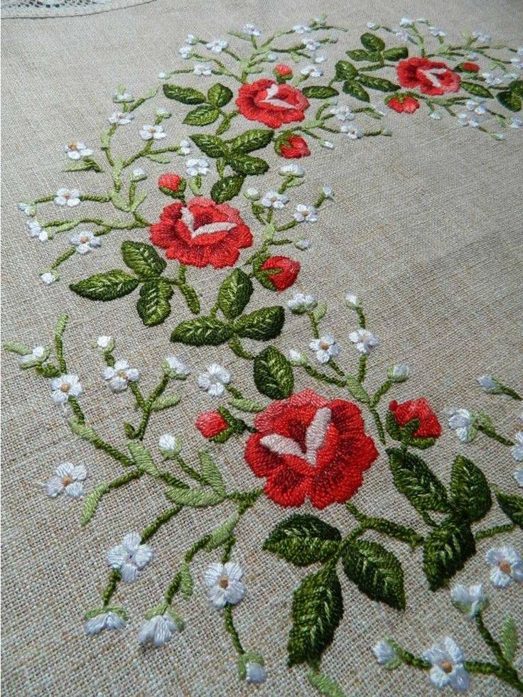 Vintage Embroidered Tablecloth 29