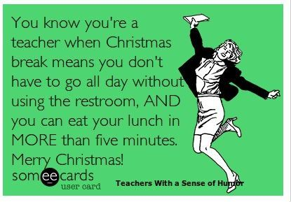 I think we should replace teacher with pharmacist since we work longer days without a lunch break or any break in general...oh wait, no christmas break either :-/